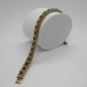 Vintage Monet Rhinestone Tennis Bracelet